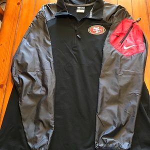 San Fran 49ers Rain Jacket Pockets for Phone etc.